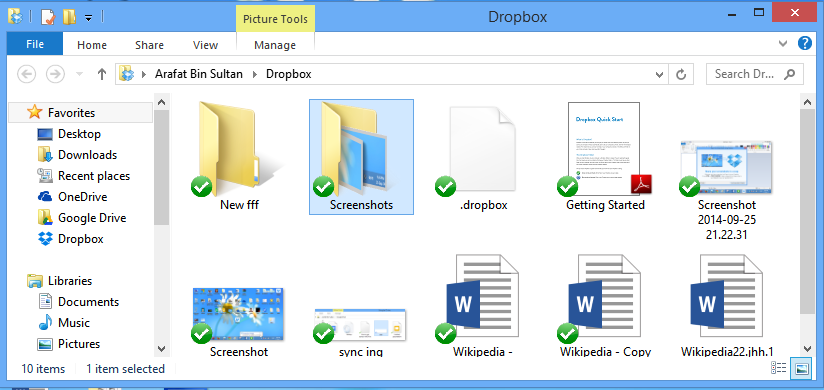 how to put dropbox shortcut on desktop