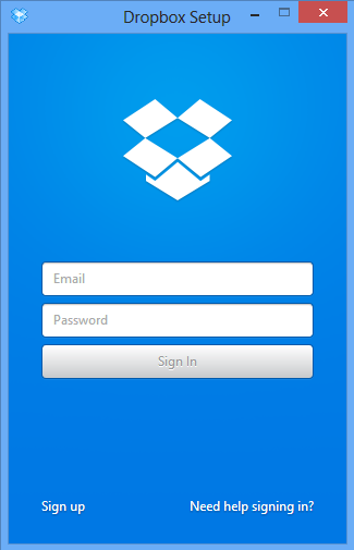 dropbox sign in