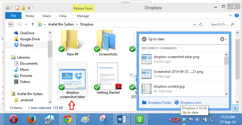 dropbox sync completed img