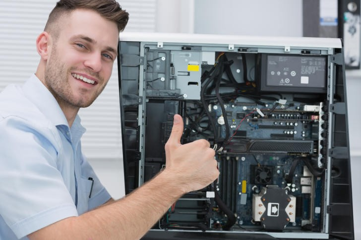 hardware professional gesturing thumbs up by open cpu