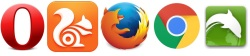 logos of the android browsers