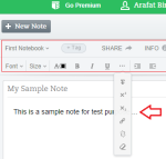Evernote note writing tools