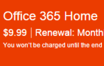 OneNote package fee
