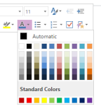 OneNote text color