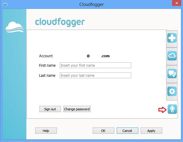 cloudfogger account settings