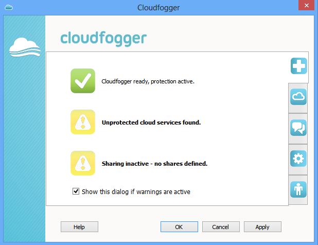 cloudfogger start page1