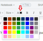font color in evernote
