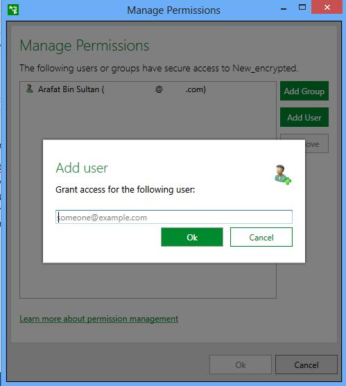 manage permission window