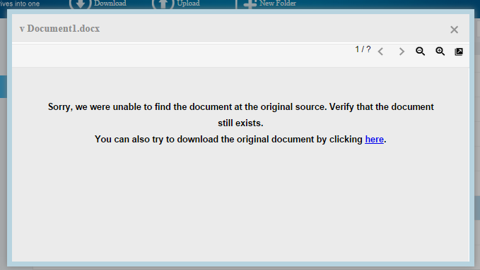 multcloud error document view 1