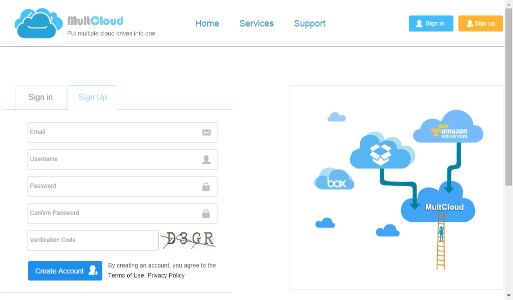 multcloud signup