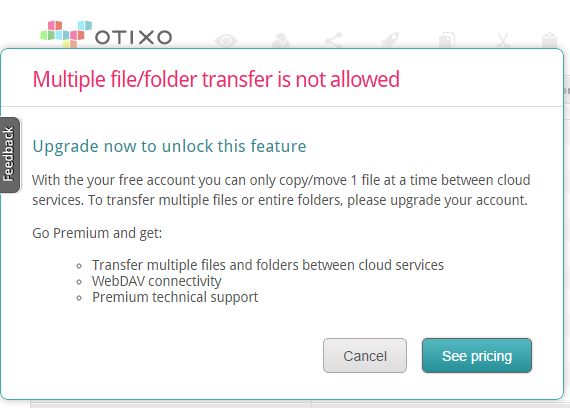 multiple transfers on otixo