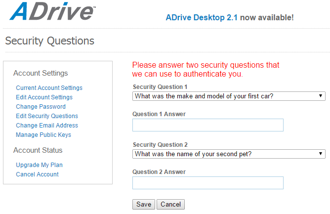 Adrive security q