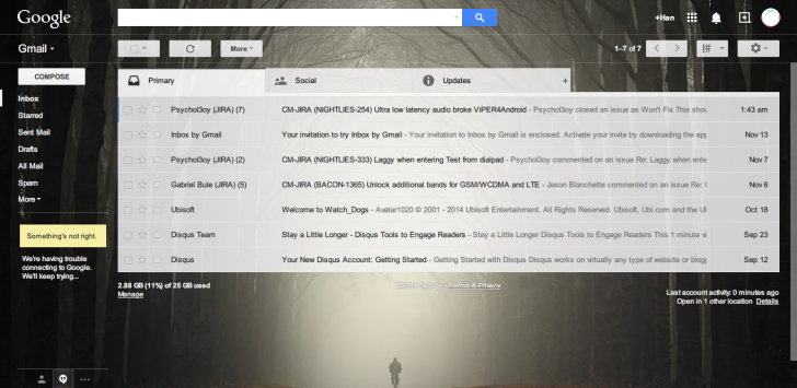 Gmail main page