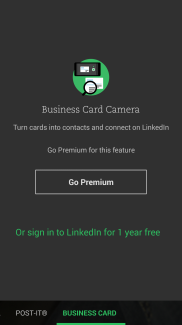 evernote business card ui
