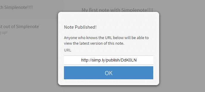 publish notes