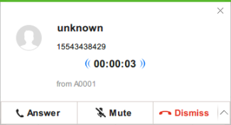 Call prompt on windows airdroid client