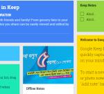 Google Keep home kb