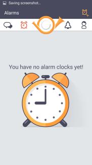 Alarm tab