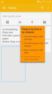 Google Keep note arrangement