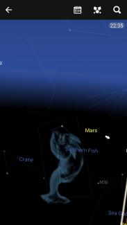Star chart navigating