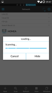 ES file explorer network scanning