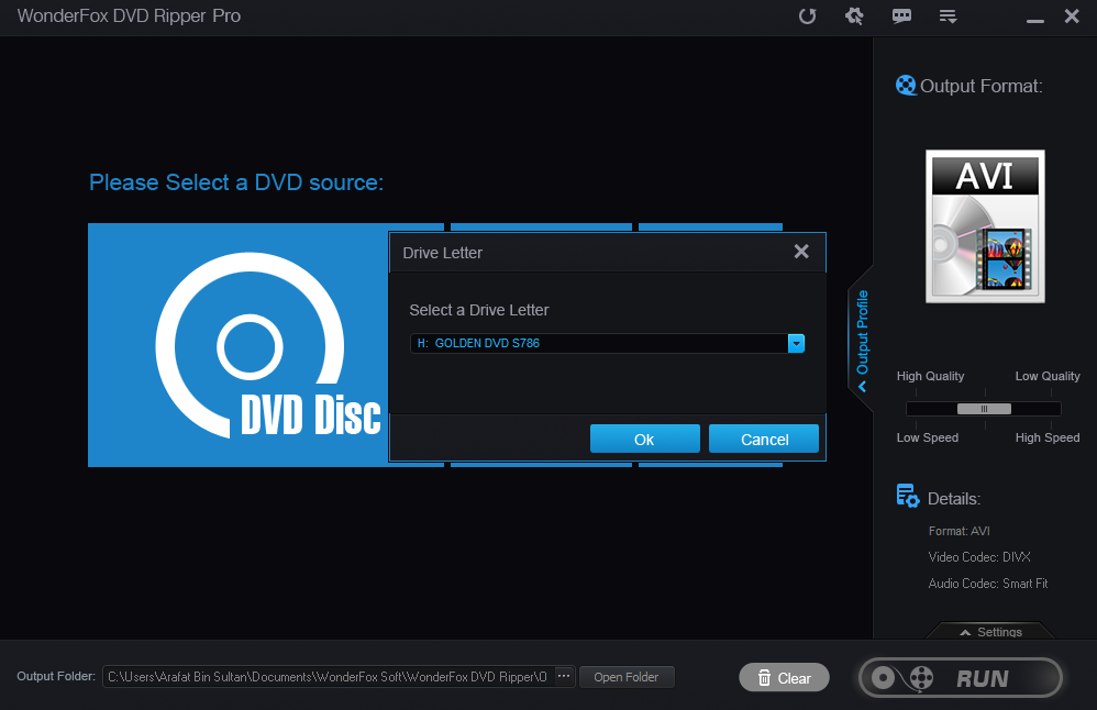 Select a Source - WonderFox DVD Ripper