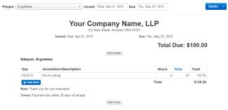 Chrometa Invoicing