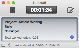 Hubstaff on MAC - Compact Mode