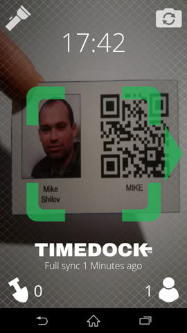 Registration in timedoc