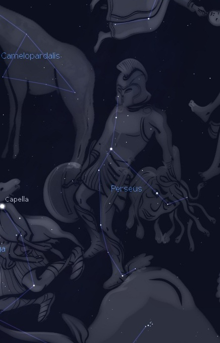 Perseus constellation