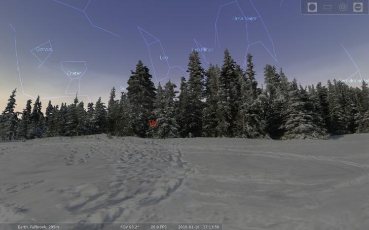 Stellarium forest landscape