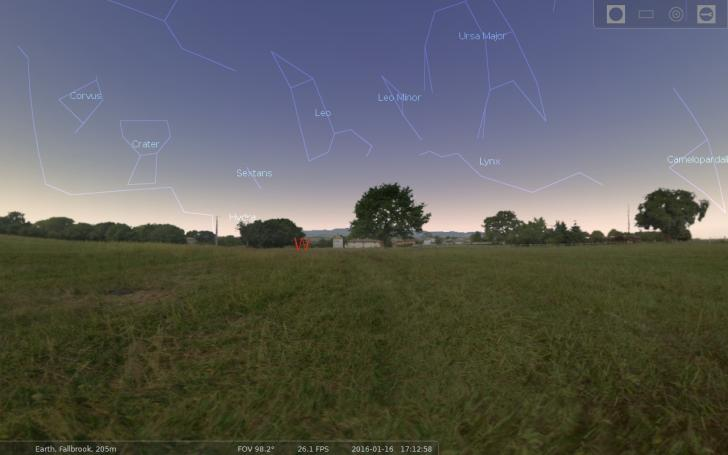 Stellarium village landscape