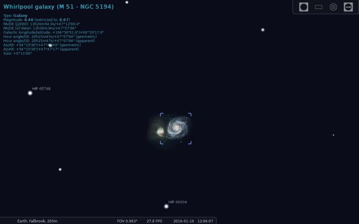 Stellarium photo of whirlpool galaxy
