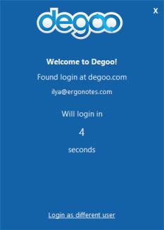 Degoo first screen