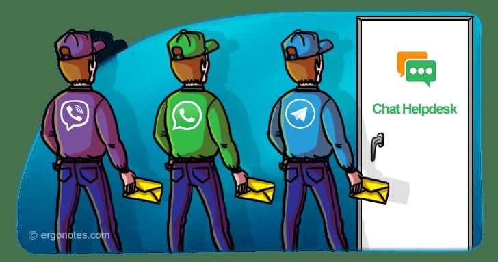 Chat HelpDesk — Tickets via WhatsApp, Viber and Telegram