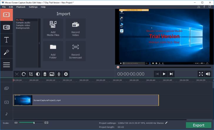 movavi screen capture edit video