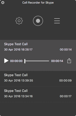 Call recorder for Skype - call recordings