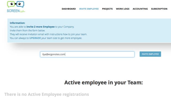 invite employee