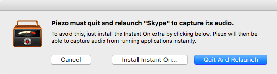 piezo relaunch Skype dialogue