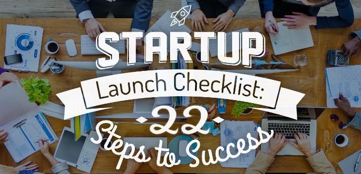 startup launch checklist infographic