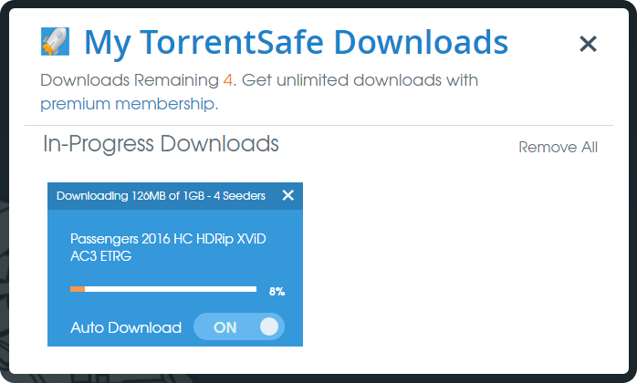 torrent safe - downloading