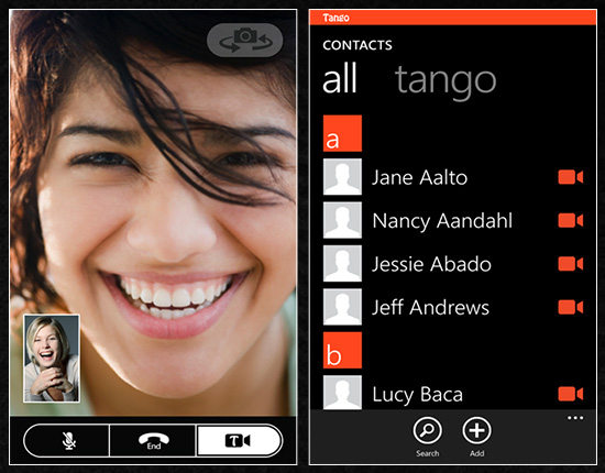 videocall tango