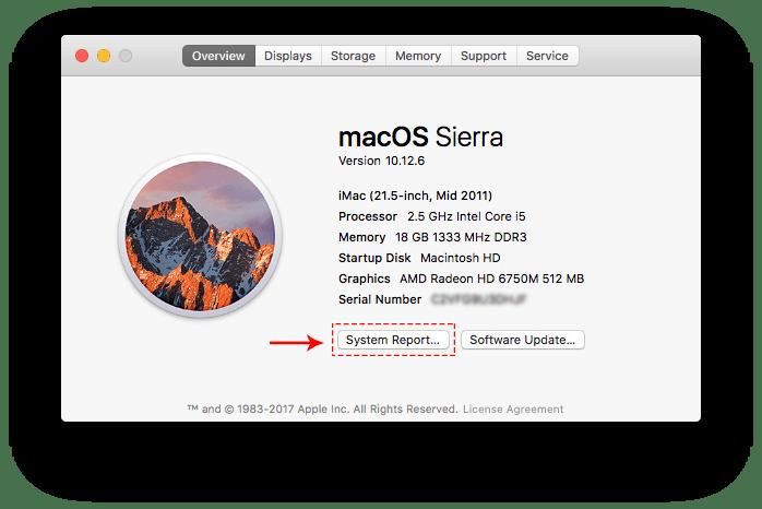mac system report
